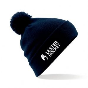 Ulster Hockey Bobble Hat Navy